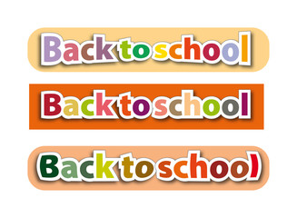 color sign back to school