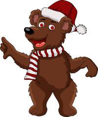 funny christmas bear cartoon