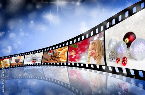 farbfilm mit weihnachtsmotiven stockfotos und lizenzfreie bilder auf bild 43620669. Black Bedroom Furniture Sets. Home Design Ideas