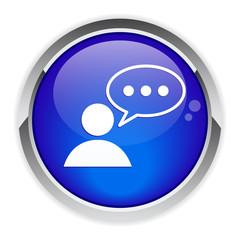 conversation button speeking bubble.