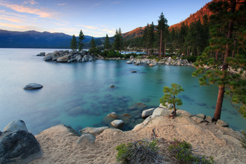 Wall Mural - dawn over Sand Harbor, Lake Tahoe