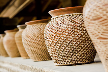 Decorative jars of clay