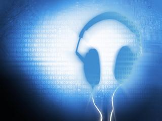 Blue Headphones Background