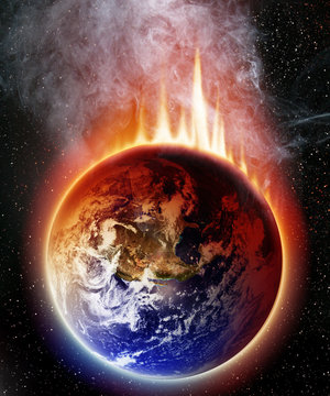 Apocalyptic view of planet earth