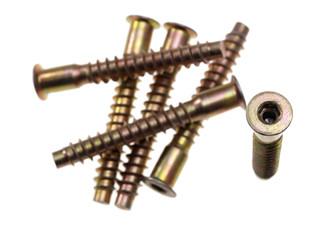 Socket hex head screws. Focus on head of vertical screw.