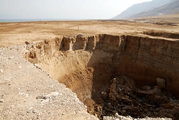 Sinkhole in the Dead Sea area