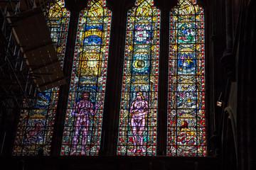 Foto op Plexiglas Stained Cathédrale Saint-Mungo de Glasgow , Ecosse