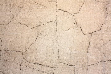 Old cracked grunge cement wall background texture