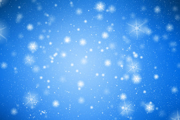 Blue background with white snowflakes