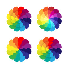 Spectrum flowers