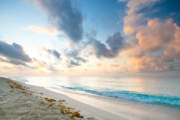 Caribbean beach in Playacar of Mexico