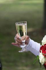 Sektglas der Braut