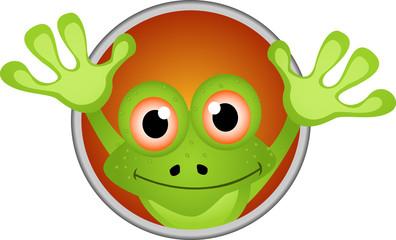 frog head cartoon