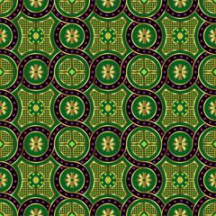 Acrylic Prints Moroccan Tiles tatar seamless ornament
