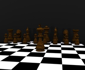 3d Chess - wood material