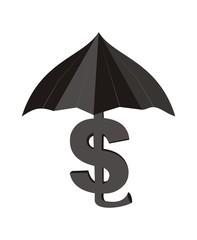 Доллар с зонтиком.
