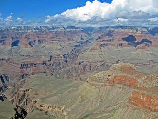grand canyon in sunny day, mountains diversity