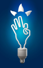 concept is okay, the lamp hand