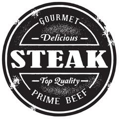 Vintage Style Steak Beef Stamp