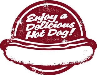 Hot Dog Stamp