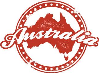 Vintage Style Australia Stamp