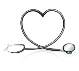 Stethoscope heart concept
