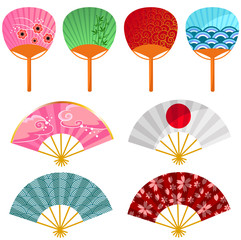 set of japanese fans