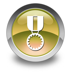 "Yellow Glossy Pictogram ""Award Medal"""