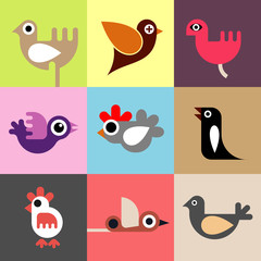 Birds vector wallpaper