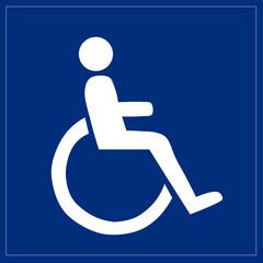 Fototapete - Schild - Behindertengerecht