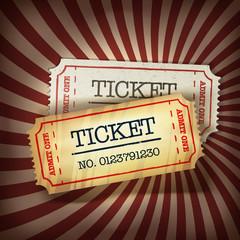 Poster Vintage Poster Golden and regular tickets concept illustration. Vector, EPS10