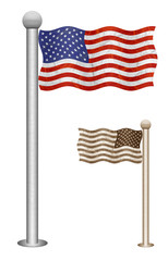 Flag pole recycled paper