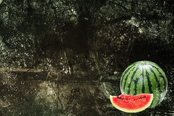 Watermelon and grunge