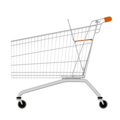 A sideview of a shopping cart