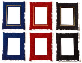 Red, Blue & Black Frames with & without Golden Margin