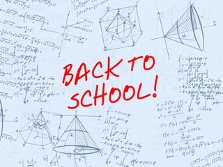 Back to school handwritten background