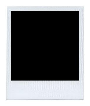 Empty photo polaroid