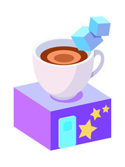 vector icon café