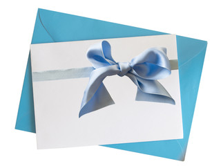 blue noe with ribbon
