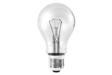 Light Bulb on a white