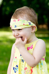 Smile of the little girl