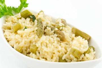 rice with asparagus