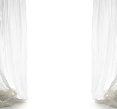 white curtain with free space