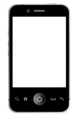 Smartphone white Display