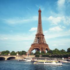 Eiffel Tower and River Seine in Paris