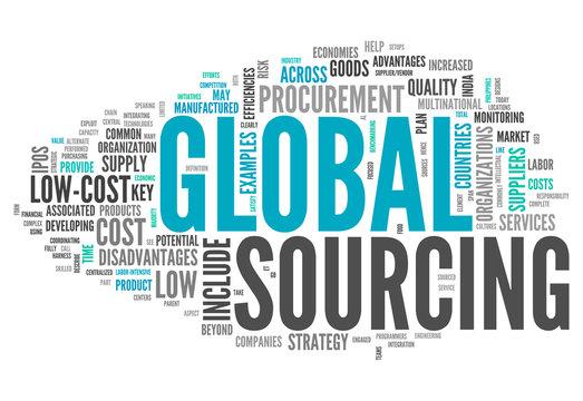 "Word Cloud ""Global Sourcing"""