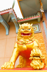 "The golden lion statues ""they are public domain"""