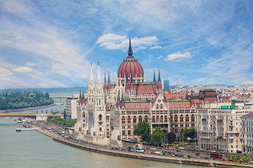 Printed kitchen splashbacks Budapest Hungary, Budapest, view of Sacred Stephane's basilica
