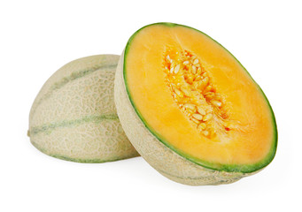 Melon isolated on white background with clipping path