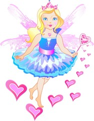 The princess has the wings and magic wand